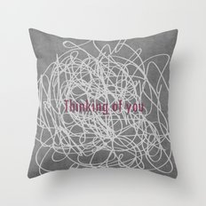 Concrete & Letters II Throw Pillow