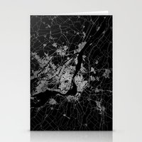 montreal Stationery Cards featuring montreal map by Line Line Lines