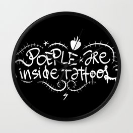 People are inside tattoos - Emilie Record Wall Clock