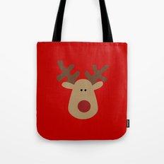 Christmas Reindeer-Red Tote Bag