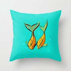 goldphishes Throw Pillow