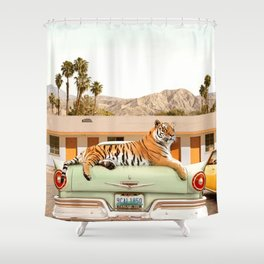 Tiger Motel Shower Curtain