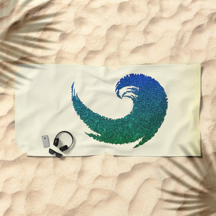 - summer wave - Beach Towel