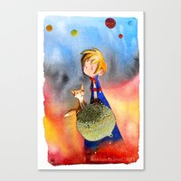 the little prince Canvas Prints featuring Little Prince by Jose Luis Ocana