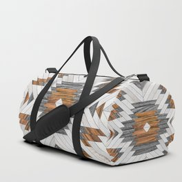 Urban Tribal Pattern No.8 - Aztec - Wood Duffle Bag