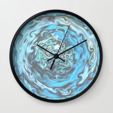 Aqua Swirl Topography Wall Clock