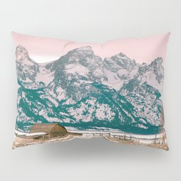 Grand Tetons Barn Pillow Sham