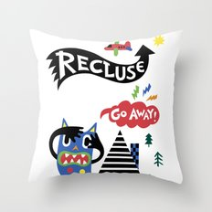 Professional Recluse Throw Pillow