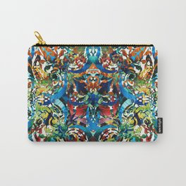Bold Pattern Art - Color Fusion Design 8 By Sharon Cummings Carry-All Pouch