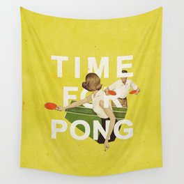 Time For Pong Wall Tapestry