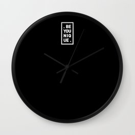 YOU AND YOURSELF (BLK) Wall Clock