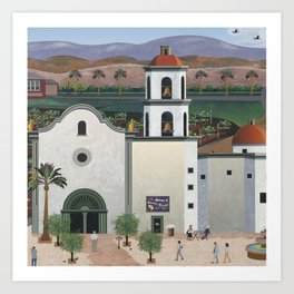 Wilson's Winery Visiting A Mexican Adobe Mission Winery Art Print