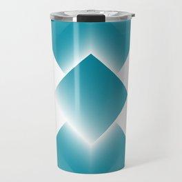 blue color energy tower Travel Mug