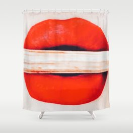 Fetching Coral Lips Shower Curtain