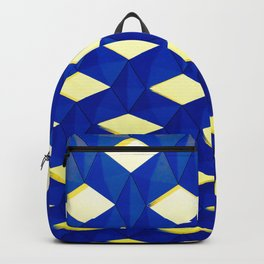Trapez 2/5 Blue & Yellow by Brian Vegas Backpack