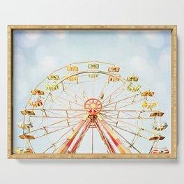 Ferris Wheel Photography, Carnival Nursery Photograph, Circus Photo Print, Babys Room Art Serving Tray