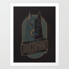DOBERMAN (AGILE) Art Print