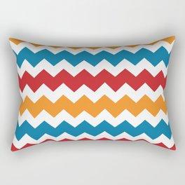 Blue Red Orange Chevron Rectangular Pillow
