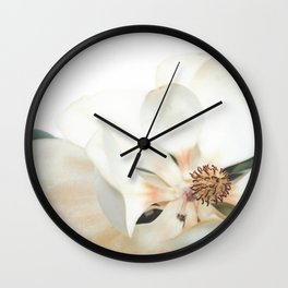Botanical Magnolia in Color 1 Wall Clock