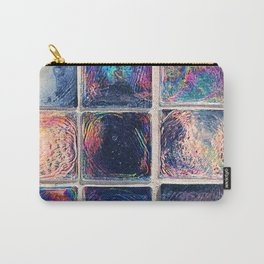 Iridescent Squares Carry-All Pouch