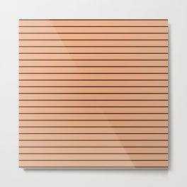 Thin Black Lines On Peach Metal Print