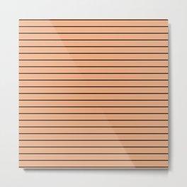 Thin Black Lines On Peach Metal Print