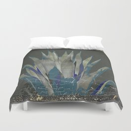 GRUBBY GREY ANTIQUE AGAVE CACTUS PIC Duvet Cover