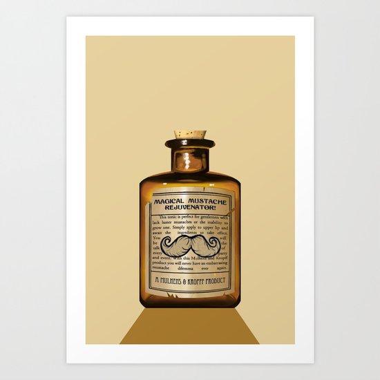 Magical Mustache Rejuvinator Art Print