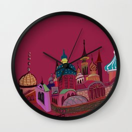 Russia in color Wall Clock