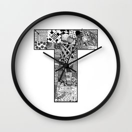 Cutout Letter T Wall Clock
