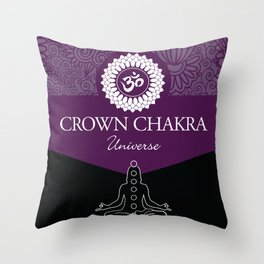 Crown Chakra #48 Throw Pillow