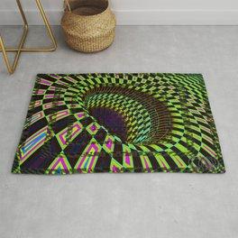 Tumbler #26 Optical Illusion Psychedelic Trippy Vibrant Design Rug
