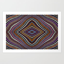 Wild Wavy Diamonds 33 Art Print