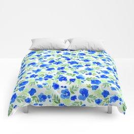 Floret (Blue) Comforters