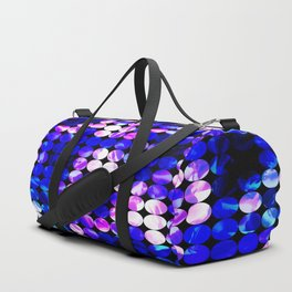 circle pattern abstract background with splash painting abstract in blue and pink Duffle Bag