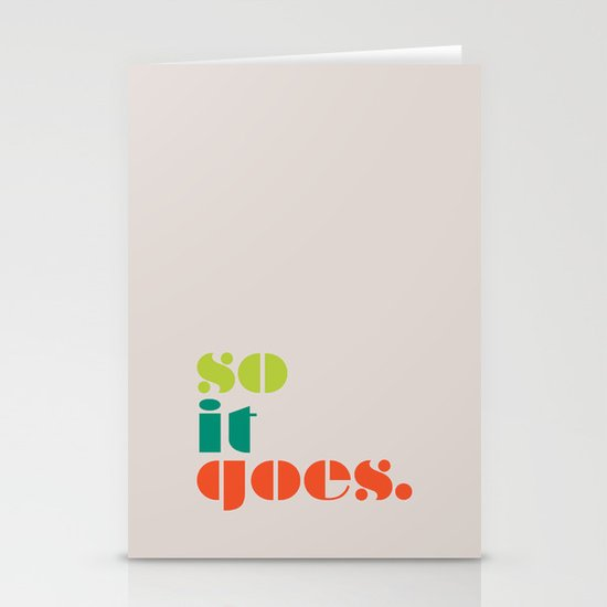 So It Goes Stationery Cards