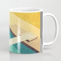 pool Mugs featuring Pool by Herb Vaine