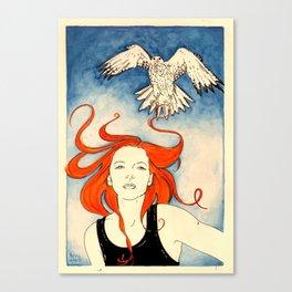 Neko and the Gyrfalcon Canvas Print