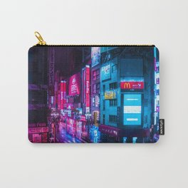 Post Apocalyptic Neon City Blues  - Tokyo Carry-All Pouch