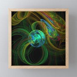 Fractal planetary orbit in vibrant color Framed Mini Art Print