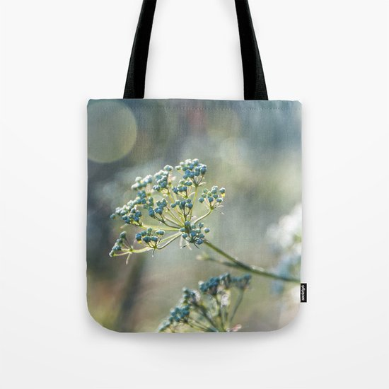 Early morninglight in a meadow Tote Bag