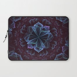 Ornate Blossom in Cool Blues Laptop Sleeve
