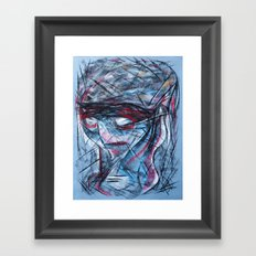 Chalk Face Framed Art Print