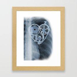 bike lover X-ray Framed Art Print