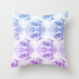Staring Into Space Throw Pillow