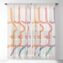 Boca Silhouettes Sheer Curtain