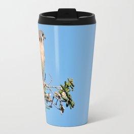 American Kestrel on Watch in La Verne Travel Mug