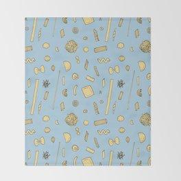 Pasta pattern blue Throw Blanket