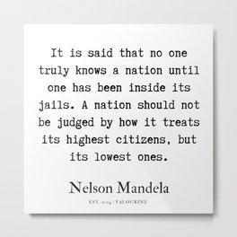 19   | Nelson Mandela  Quotes | 190818 Metal Print