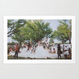 kids in the park Art Print